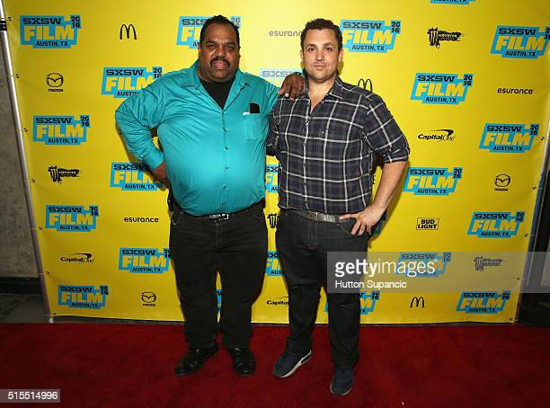 Musician Daryl Davis and director Matt Ornstein attend the premiere of Accidental Courtesy Daryl Davis Race America during the 2016 SXSW Music Film...