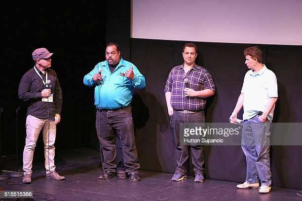 Musician Daryl Davis director Matt Ornstein and actor Scott Shepard speak onstage at the premiere of Accidental Courtesy Daryl Davis Race America...