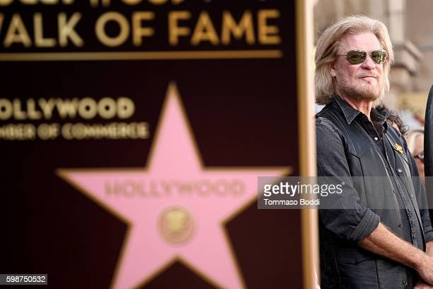 Musician Daryl Hall attends a ceremony honoring musicians Daryl Hall and John Oates with a star on the Hollywood Walk of Fame on September 2 2016 in...