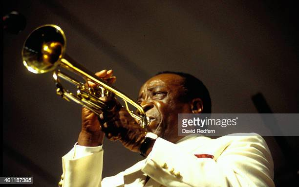 Musician Dave Bartholomew on stage at New Orleans Jazz Festival, May 1994.