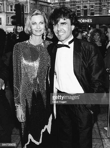 Musician Dave Clark and his wife attending the premiere of his musical 'Time' in London April 10th 1986