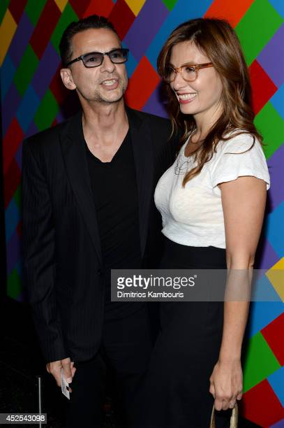 Musician Dave Gahan and Jennifer Sklias attend Lionsgate and Roadside Attraction's premiere of A Most Wanted Man hosted by The Cinema Society and...