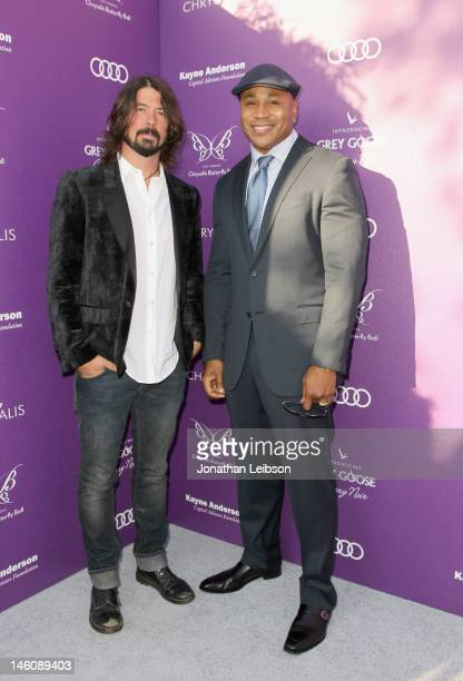 Musician Dave Grohl and actor LL Cool J arrive at the 11th Annual Chrysalis Butterfly Ball held at a private residence on June 9 2012 in Los Angeles...