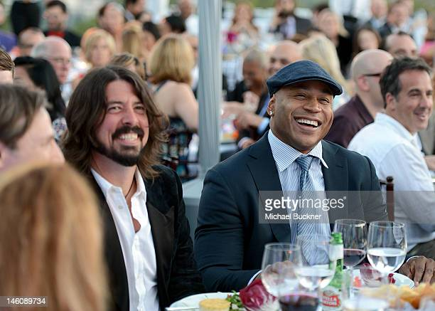 Musician Dave Grohl and honoree LL Cool J inside the 11th Annual Chrysalis Butterfly Ball sponsored by Audi Grey Goose Kayne Anderson and smartwater...