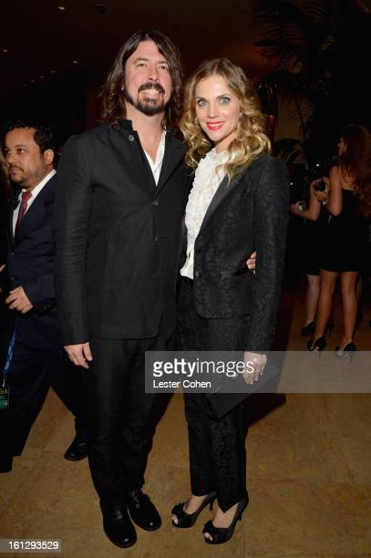 Musician Dave Grohl and Jordyn Blum arrive at the 55th Annual GRAMMY Awards PreGRAMMY Gala and Salute to Industry Icons honoring LA Reid held at The...