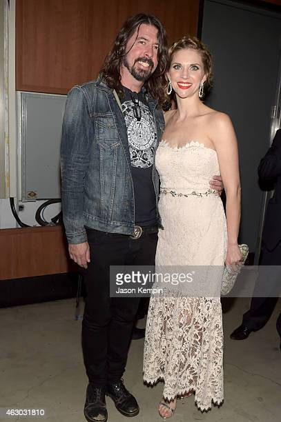 Musician Dave Grohl and Jordyn Blum attend The 57th Annual GRAMMY Awards at STAPLES Center on February 8 2015 in Los Angeles California