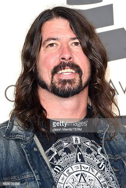 Musician Dave Grohl attends The 57th Annual GRAMMY Awards at the STAPLES Center on February 8 2015 in Los Angeles California