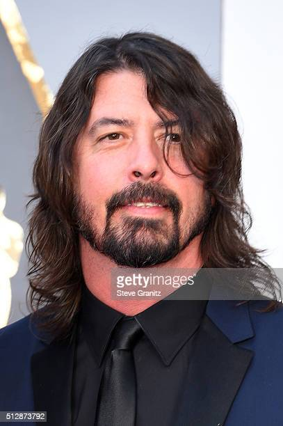 Musician Dave Grohl attends the 88th Annual Academy Awards at Hollywood Highland Center on February 28 2016 in Hollywood California