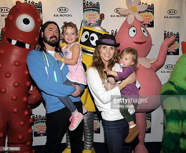 Musician Dave Grohl daughter Violet wife Jordyn Blum and daughter Harper attend YO GABBA GABBA @ KIA PRESENTS YO GABBA GABBA LIVE THERE'S A PARTY IN...