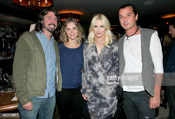 Musician Dave Grohl Jordyn Blum Grohl musicians Gwen Stefani and Gavin Rossdale attend PANDORA Jewelry and Moto X present 'American Hustle' at cinema...