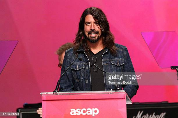 Musician Dave Grohl speaks on stage during the 32nd annual ASCAP Pop Music Awards held at Lowes Hollywood Hotel on April 29 2015 in Hollywood...