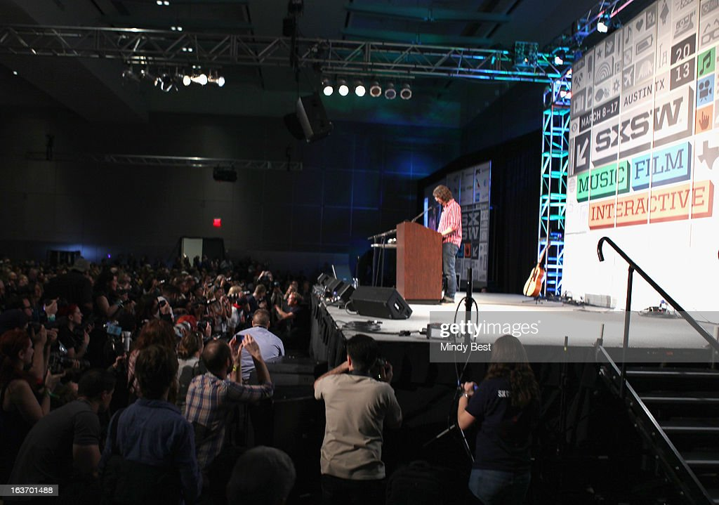 Musician Dave Grohl speaks onstage at SXSW Keynote: Dave Grohl during the 2013 SXSW Music, Film + Interactive Festival at Austin Convention Center on March 14, 2013 in Austin, Texas.