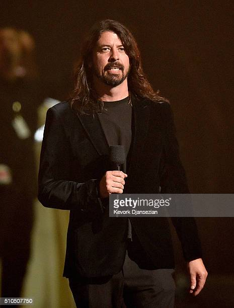 Musician Dave Grohl speaks onstage during The 58th GRAMMY Awards at Staples Center on February 15 2016 in Los Angeles California