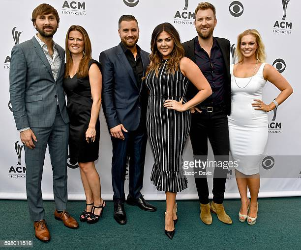 Musician Dave Haywood of Lady Antebellum Kelli Cashiola Musician Chris Tyrrell singersongwriter Hillary Scott singersongwriter Charles Kelley of Lady...