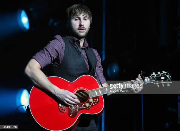 Musician Dave Haywood of Lady Antebellum performs at The Wiltern on April 15 2010 in Los Angeles California