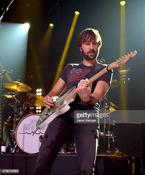 Musician Dave Haywood of Lady Antebellum performs on The Honda Stage at the iHeartRadio Theater on June 29 2015 in Burbank California