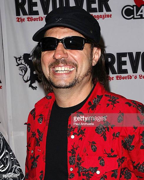 Musician Dave Lombardo arrives at the 2nd annual Revolver Golden Gods Awards at Club Nokia on April 8 2010 in Los Angeles California