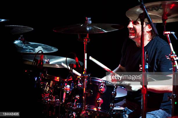 Musician Dave Lombardo performs at the All Star Concert benefiting Drop In The Bucket at Avalon on November 30 2011 in Hollywood California