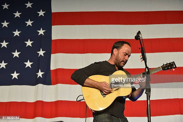 Musician Dave Mathews performs during a rally for the Democratic vice presidential candidate Tim Kaine at the National Western Complex on October 10,...