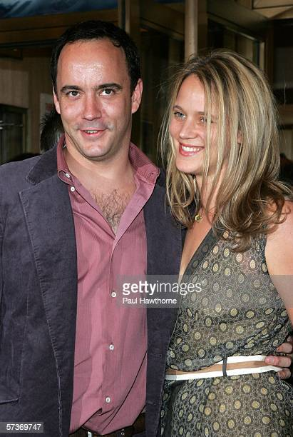 Musician Dave Matthews and his wife Ashley Harper attend the opening night of Three Days of Rain at the Bernard B Jacobs Theatre on April 19 2006 in...
