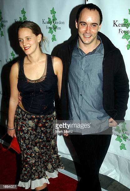Musician Dave Matthews arrives with his wife for the Confessions of a Dangerous Mind after party December 18 2002 at Metronone in New York City
