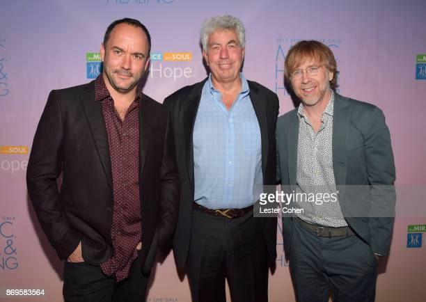 Musician Dave Matthews Honoree Coran Capshaw and Musician Trey Anastasio at MFEI Spirit Of Life Honoring Coran Capshaw on November 2 2017 in Santa...