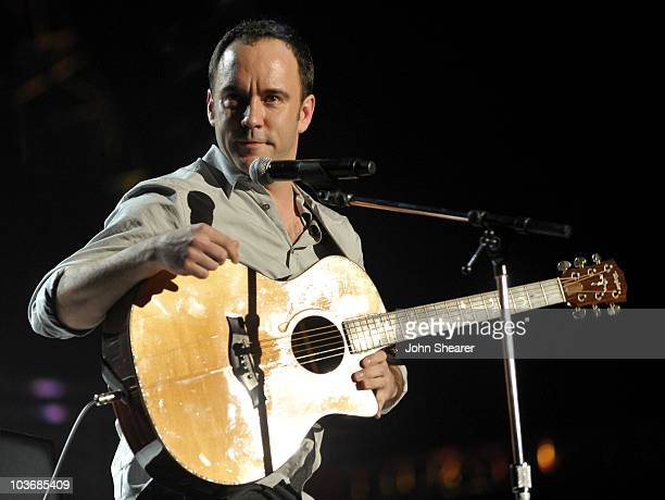 Musician Dave Matthews performs at the 2010 MusiCares Person Of The Year Tribute To Neil Young at the Los Angeles Convention Center on January 29,...