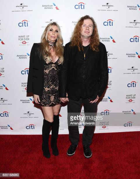 Musician Dave Mustaine and Pamela Anne Casselberry arrive at the Universal Music Group's 2017 GRAMMY After Party at The Theatre at Ace Hotel on...