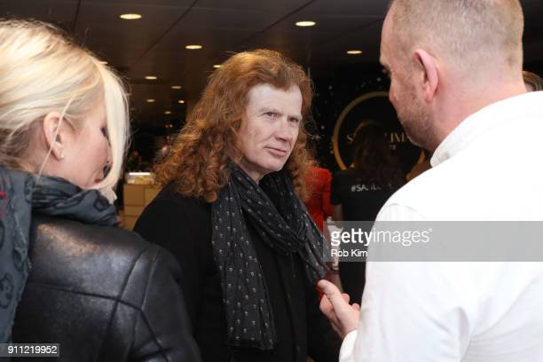 Musician Dave Mustaine and Pamela Anne Casselberry attend the GRAMMY Gift Lounge during the 60th Annual GRAMMY Awards at Madison Square Garden on...