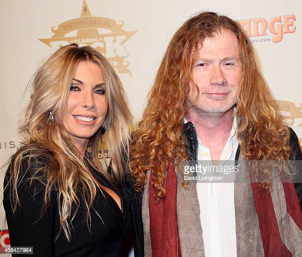 Musician Dave Mustaine and wife Pamela Anne Casselberry attends the 10th Annual Classic Rock Awards at Avalon on November 4 2014 in Hollywood...
