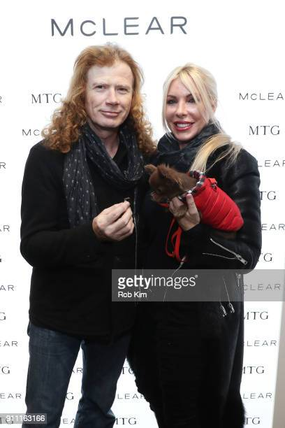 Musician Dave Mustaine of musical group Megadeth and Pamela Anne Casselberry attend the GRAMMY Gift Lounge during the 60th Annual GRAMMY Awards at...