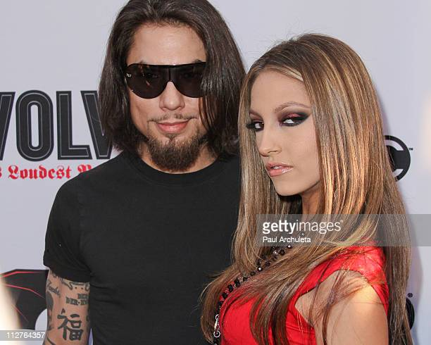 Musician Dave Navarro and Actress Jenna Haze arrive at the 3rd annual Revolver Golden God Awards at Club Nokia on April 20, 2011 in Los Angeles,...