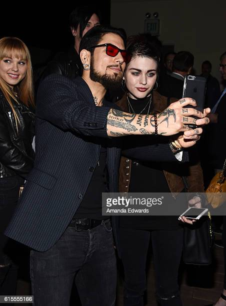 Musician Dave Navarro and Frances Bean Cobain attend the launch party for Cassandra Peterson's new book 'Elvira Mistress Of The Dark' at the...