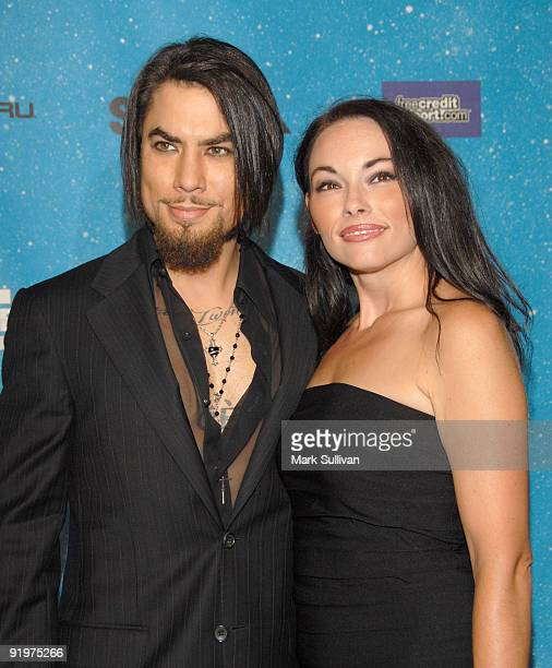 Musician Dave Navarro and guest arrive at Spike TV's SCREAM 2009 held at The Greek Theatre on October 17 2009 in Los Angeles California