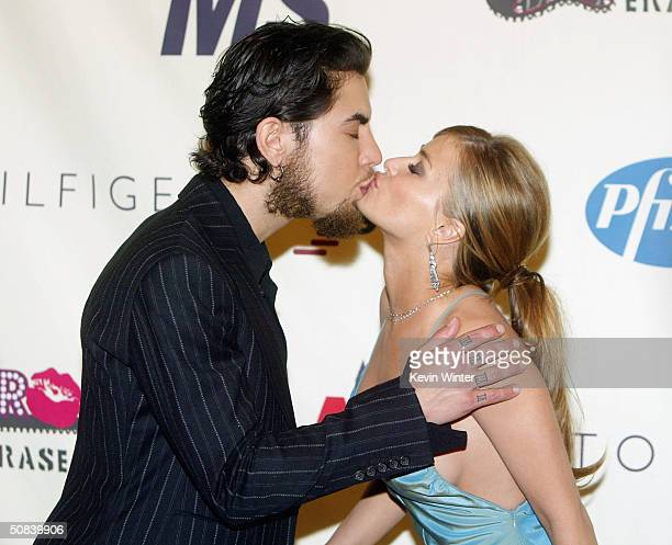 Musician Dave Navarro and his wife actress Carmen Electra arrive at The 11th Annual Race to Erase MS on May 14 2004 at the Century Plaza Hotel in Los...