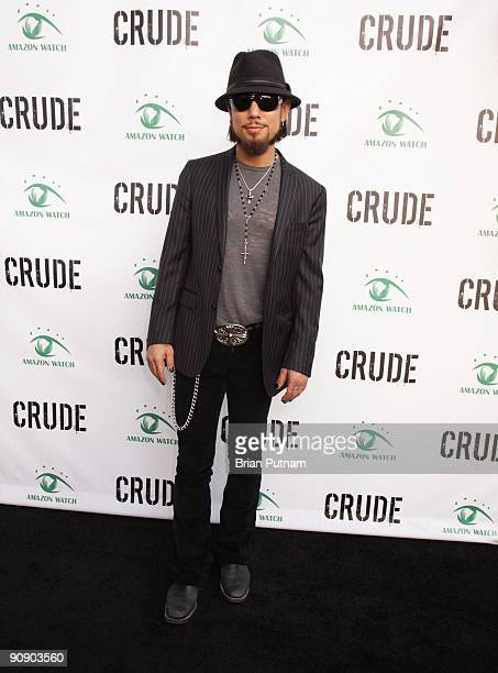 Musician Dave Navarro arrives for the screening of the film 'CRUDE' at Harmony Gold Theatre on September 17 2009 in Los Angeles California