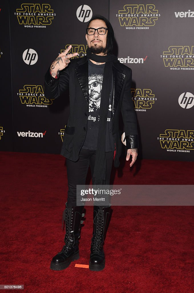 Musician Dave Navarro attends Premiere of Walt Disney Pictures and Lucasfilm's 'Star Wars: The Force Awakens' on December 14, 2015 in Hollywood, California.