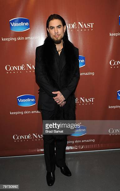 Musician Dave Navarro attends the Vaseline and Conde Nast Media Group Skin is Amazing exhibit at The Glass House in the Chelsea Art Tower February 12...