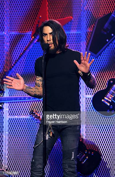 Musician Dave Navarro on stage at the 3rd Annual Revolver Golden God Awards at the Club Nokia on April 20 2011 in Los Angeles California