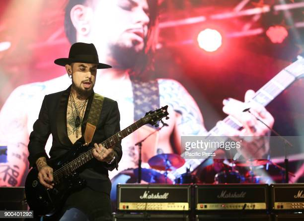 Musician Dave Navarro performs at America Salutes You and Wall Street Rocks Presents Guitar Legends For Heroes at Terminal