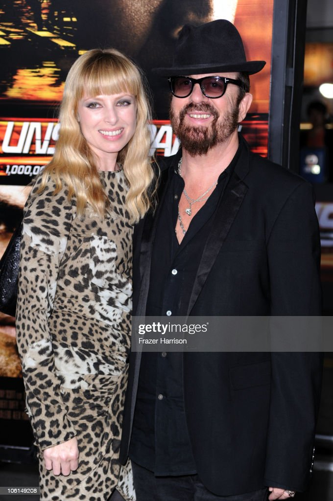 Musician Dave Stewart and wife Anoushka Fisz arrives at the premiere of Twentieth Century Fox's 'Unstoppable' at Regency Village Theater on October 26, 2010 in Westwood, California.