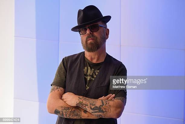 Musician Dave Stewart of the band Eurythmics poses for a portrait at SiriusXM Studio on September 7 2016 in New York City