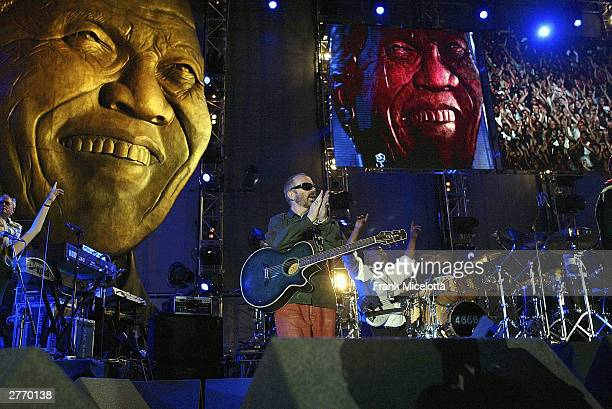 Musician Dave Stewart performs at the 46664 Give One Minute of Your Life to AIDS concert held on November 29 2003 at Greenpoint Stadium in Cape Town...