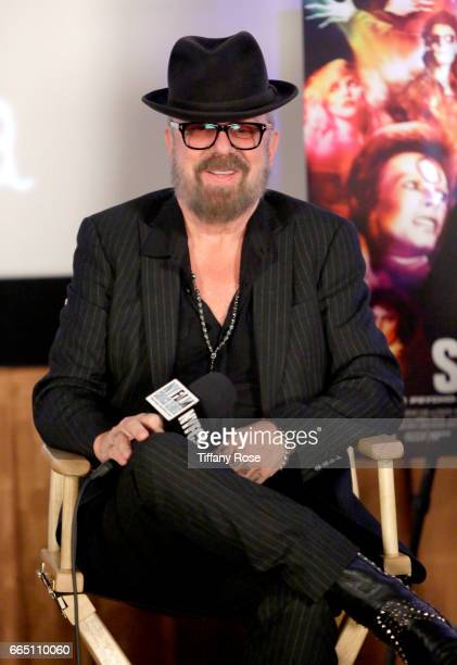 Musician Dave Stewart speaks onstage during 'Shot The Psycho Spiritual Mantra of Rock' LA Premiere Presented by Citi at The Grove on April 5 2017 in...