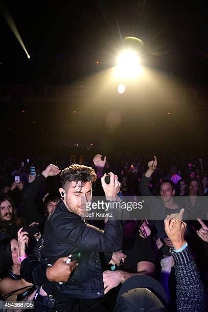 Musician Davey Havok of AFI performs onstage at the 24th Annual KROQ Almost Acoustic Christmas at The Shrine Auditorium on December 7 2013 in Los...