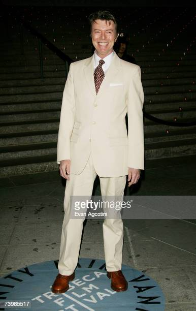 Musician David Bowie arrives for the Vanity Fair 2007 Tribeca Film Festival party at The State Supreme Courthouse April 24 2007 in New York City