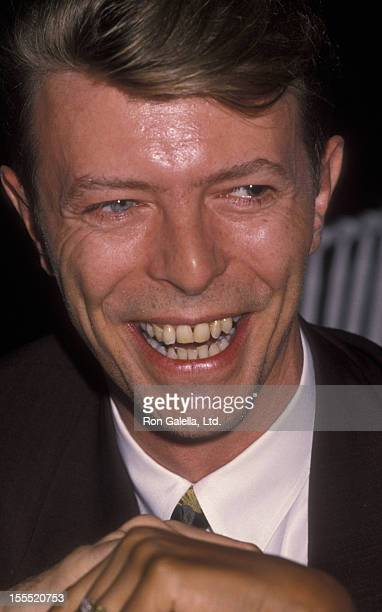 Musician David Bowie attends Seventh on Sale AIDS Benefit on November 29 1990 at the Armory in New York City
