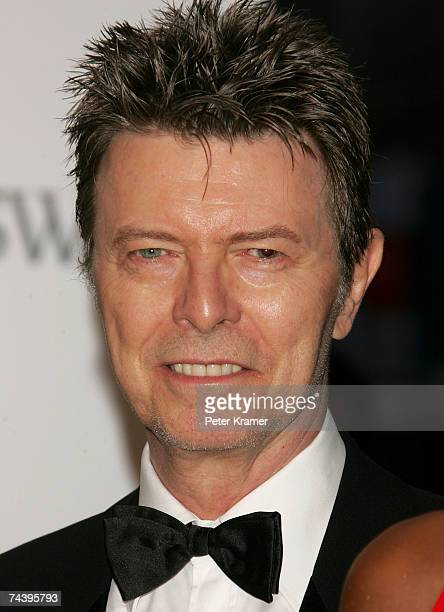 Musician David Bowie attends the 25th Anniversary of the Annual CFDA Fashion Awards held at the New York Public Library on June 4, 2007 in New York...