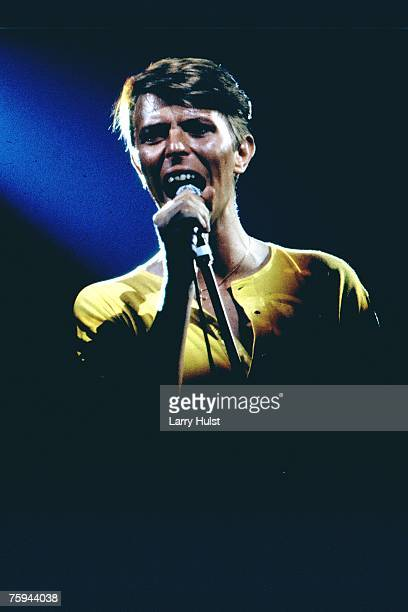 Musician David Bowie performs onstage in circa 1978