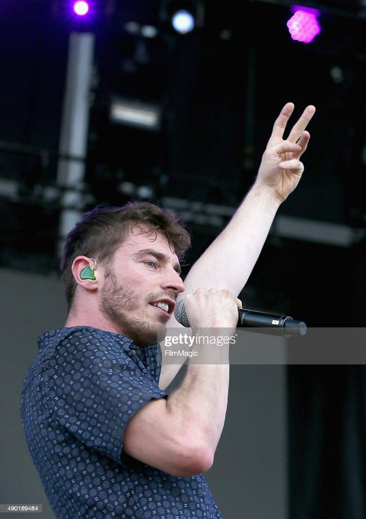 Musician David Boyd of New Politics performs onstage during day 2 of the 2015 Life is Beautiful festival on September 26, 2015 in Las Vegas, Nevada.